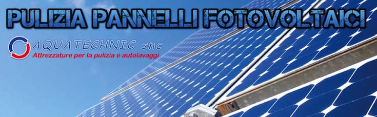 Pulizia panneeli fotovoltaici