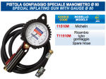 PISTOLA GONFIAGGIO SPECIALE MANOMETRO DIAMETRO 80