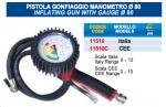 PISTOLA GONFIAGGIO PROFESSIONALE CON MANOMETRO GONFIA GOMME DIAMETRO 80